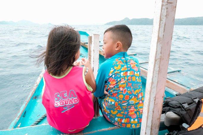 Cruz and Sinta on a boat