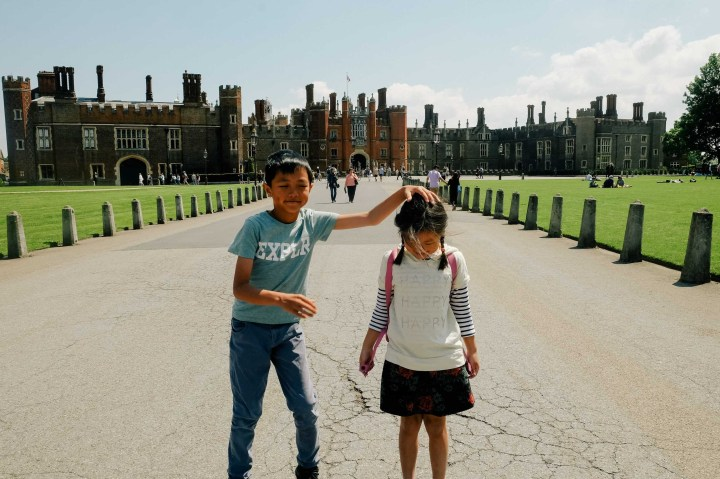 Hampton Court with kids
